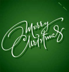 MERRY CHRISTMAS hand lettering calligraphy, christmas card