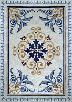 Completed Mosaic Rug - Geometric Design for your Floors