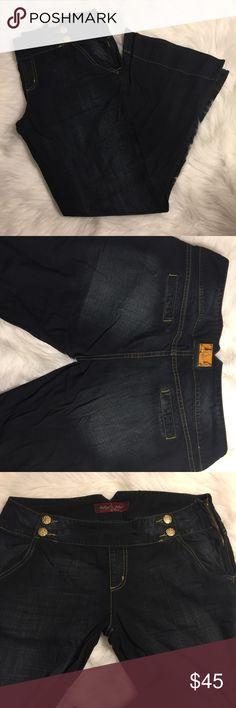 Baby phat flare jeans 15 Excellent used condition size 15 flare jeans. Baby phat brand. Front does not have buttons. Side has a zipper. I always consider offers via the offer button. Baby Phat Jeans Flare & Wide Leg
