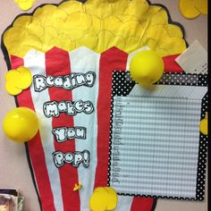 I use this for Accelerated reader. Every 10% of their goal they earn, the student pops a balloon. Inside the balloon is a post it with a reward written on it- like tickets, in class snack, etc. Totally motivates students to read. Today was the first day of the school year a balloon was popped :).