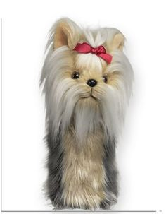 Eve's Golf Shop offers free ground shipping in the USA on Daphne's Yorkshire Terrier (Yorkie) Headcover that fits a driver or fairway wood. Pitbull Terrier, Terrier Dogs, Yorkshire Terrier Haircut, Yorkshire Terrier Puppies, Yorky, Golf Head Covers, Yorkie Puppy, Chihuahua, Rottweiler Puppies