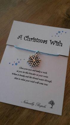 Christmas wish, stocking filler, I believe, santa's christmas wish, xmas wish, christmas wish bracelet, wish bracelet, snowflake,