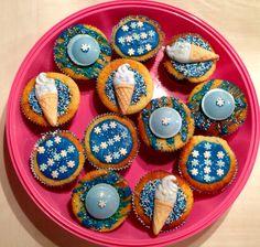 Lemony cupcakes icecreamcones snowflakes everything blue