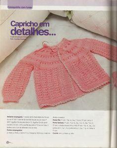 Tricotando para o Neném: Casaquinho de bebê em tricô!