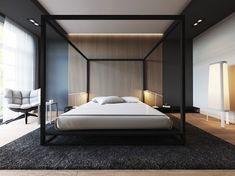 Bon 30 Ideen Für Moderne Schlafzimmergestaltung Mit Lamellenwand