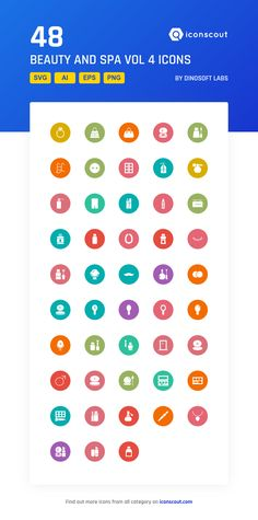 Beauty And Spa Vol 4  Icon Pack - 48 Solid Icons