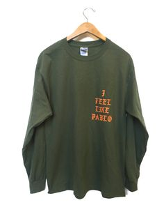 VERY RARE YEEZY I FEEL LIKE PABLO THE LIFE OF PABLO LONG SLEEVE T-SHIRT 100% COTTON GILDAN SCREEN PRINTED HIGH QUALITY NO CHEAP PRINTS