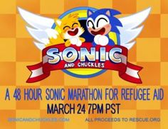 Sonic & Chuckles 48-Hour Charity Stream Benefits Refugee Aid at 7PM PST -  What happens when artists and animators band together to run a Sonic-themed charity event? You get Sonic & Chuckles, a 48 hour livestreaming event starting at 7PM PST today! Sonic & Chuckles is benefiting the Refugee Aid run by both Geneva Hodgson (Storyboard artist and writer for OK... https://www.sonicretro.org/2017/03/sonic-chuckles-48-hour-charity-stream-benefits-refugee-aid-7pm-pst/