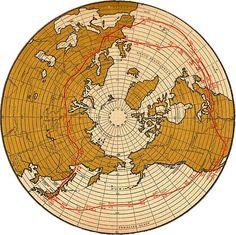 Graf Zeppelin Round-the-World Flight Map, 1929