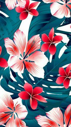 Flowers iphone wallpapers ♡ arrière plan, fond ecran summer и fond ecra Iphone Wallpaper Tropical, Floral Wallpaper Phone, Flowers Wallpaper, Trendy Wallpaper, New Wallpaper, Flower Backgrounds, Screen Wallpaper, Pattern Wallpaper, Wallpaper Backgrounds