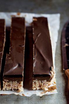 Peanut Butter Chocolate Rice Krispie bars. #Recipe #sweets