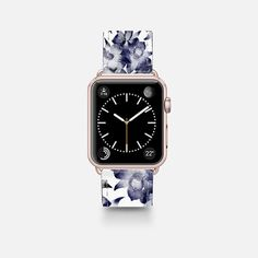 Ice Bloom - Saffiano Leather Watch Band