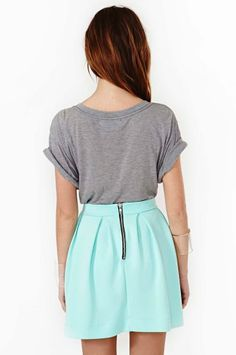 #nastygal.com             #Skirt                    #Scuba #Skater #Skirt #Mint                         Scuba Skater Skirt - Mint                           http://www.seapai.com/product.aspx?PID=1504412