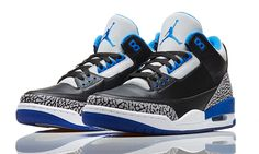 "Air Jordan 3 ""Sport Blue"" (Official Photos) 