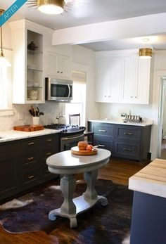 Kitchen Cabinets Light On Top And Dark On Bottom Pictures white upper cabinets dark lower cabinets, contemporary, kitchen