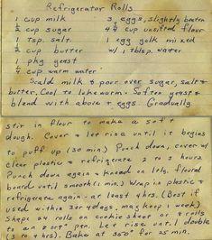 Easy Yeast Rolls, Homemade Yeast Rolls, Bread Rolls, Old Recipes, Vintage Recipes, Bread Recipes, Baking Recipes