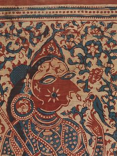 Painted Textile Depicting Celestial Musicians - 16th–17th century - India (Gujarat) - Block-printed plain-weave cotton (mordant- and resist-dyed)