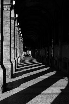 A shoot of porticos, in Bologna (Italy)
