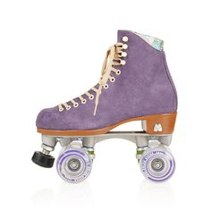 Moxi Purple Roller Skates ($320) ❤ liked on Polyvore featuring shoes, purple, fillers and roller skates