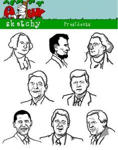 Presidents Clipart Graphics - 300dp     $
