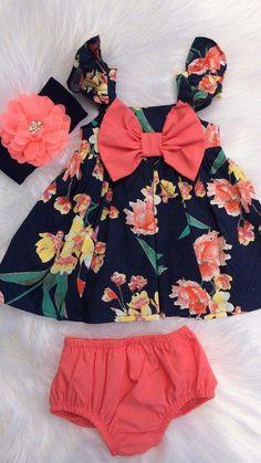 Fashion Kids Girl Dress Sew 44 Super Ideas - Baby Girl Dress - Ideas of Baby Girl Dress Girls Dresses Sewing, Dresses Kids Girl, Baby Dresses, Long Dresses, Baby Outfits, Kids Outfits, Baby Girl Fashion, Kids Fashion, Womens Fashion
