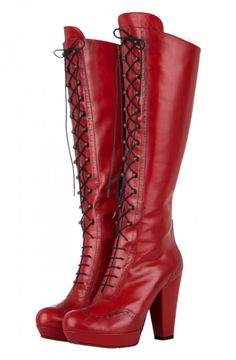 Moma boots red