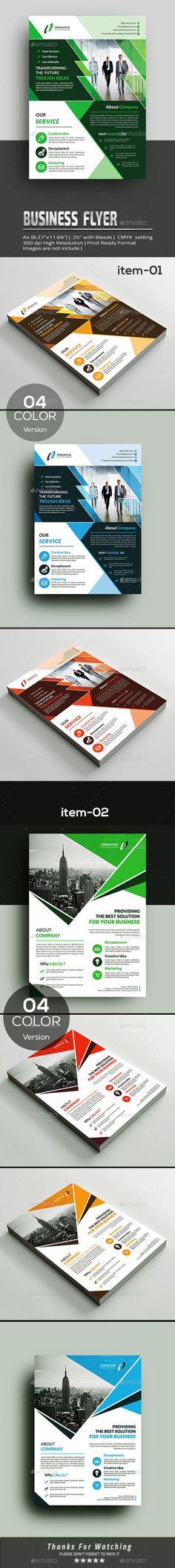 Flyer Bundle 2in1 - Corporate Flyers Business Flyer Templates, Corporate Flyer, Color Shapes, Clean Design, Business Planning, Print Design, Graphic Design, Color Change, Advertising Agency