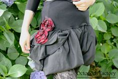 Sarouel Bloomer Bulgarian Roses Noir et Tartan par OctopoosFactory