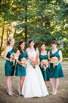 Wedding Colors Gray Teal Bridesmaid Dresses Ideas For 2019 Dark Teal Bridesmaid Dresses, Grey Bridesmaids, Wedding Dresses, Bridesmaid Ideas, Bridesmaid Shoes, Bridesmaid Flowers, Best Wedding Colors, Wedding Color Schemes, Dark Teal Weddings