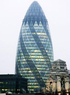 Torre Gherkin, de Londres, comprada pelo Banco Safra