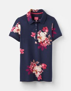 PIPPA PRINTED Polo Shirt Joules Uk, Printed Polo Shirts, Polo Shirt Women, Types Of People, Polo Ralph Lauren, Navy, Classic, Prints, Cotton