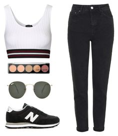 """Untitled #99"" by matildemelendrez ❤ liked on Polyvore featuring Topshop, Ray-Ban and New Balance"