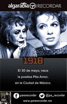 Pita Amor nació un día como hoy de 1918. Encuentra más datos en @pa_recordar.