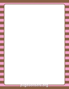 Printable pink and brown striped border. Use the border in Microsoft Word or other programs for creating flyers, invitations, and other printables. Free GIF, JPG, PDF, and PNG downloads at http://pageborders.org/download/pink-and-brown-striped-border/