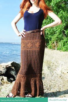 Crochet Patrón libre falda