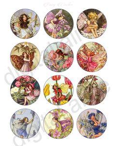 Vintage FLOWER FAIRIES Craft Circles  Victorian by DigitalAlice
