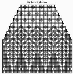 Rekonstruksjon av mysteriegenseren i alpakka. Fair Isle Knitting Patterns, Knitting Paterns, Knitting Charts, Knitting Stitches, Knitting Designs, Knit Patterns, Free Knitting, Knitting Projects, Cross Stitch Pillow