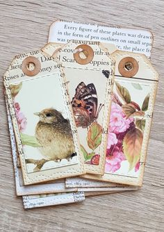 In my etsy shop: Ephemera - Pack of Paper Tags for Junk Journals, Journaling, card-making, Scrapbooking - Pack of 11 actual size: 3 x 1 wide scrapbookjournal Tag Art, Card Tags, Gift Tags, Book Crafts, Paper Crafts, Handmade Tags, Paper Tags, Vintage Tags, Scrapbooking Layouts