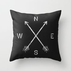 Compass Throw Pillow by Zach Terrell - $27.00 (16 x16) or $35 (20 x 20) with pillow insert | society 6.