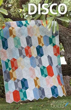 New Patterns! | Jaybird Quilts -- use #AccuQuilt dies to cut the shapes for this project at www.accuquilt.com!