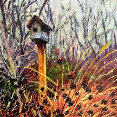 "Daily Paintworks - ""Garden House"" - Original Fine Art for Sale - © Debbie Yacenda"