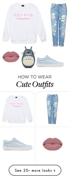 """Cute outfit"" by sanne-9-1 on Polyvore featuring Vans and Topshop"