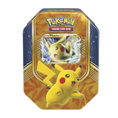 Pokemon Battle Heart Tin Includes A Pikachu EX Foil Card 4 TCG Booster