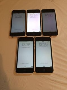 LOT OF 5 TESTED USED WHITE GSM AT&T APPLE iPhone 5C 16GB PHONES 7.5 TO 8.0 | eBay