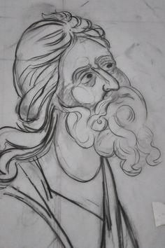 Byzantine Icons, Byzantine Art, Figure Drawing, Line Drawing, Writing Icon, Painting Process, Orthodox Icons, Mural Painting, Sacred Art