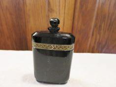 "Vintage Caron Nuit de Noel Perfume Baccarat Bottle 4 1/4"" Tall - 2 OZ, Empty,  #ArtDeco #CaronBaccarat"