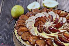 Tarta z kremem z gruszkami i sliwkami KAKU fashion cook / tart with pears, plums and cream