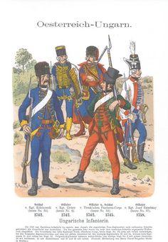 Band XI #2.- Österreich-Ungarn. Ungarische Infanterie 1742-58.