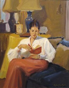 ✉ Biblio Beauties ✉ paintings of women reading letters & books - Michael Shane Neal