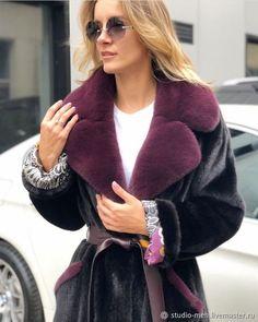 914b71a003f Верхняя одежда ручной работы. Меховое пальто из норки. Студия меха  «Виктория». Интернет-магазин Ярмарка Мастеров. Куница